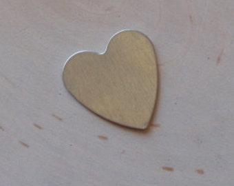 Aluminum hearts - aluminum blanks 18 gauge , 3/4 inch - QTY 5