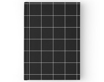 Black and White Grid Notebook