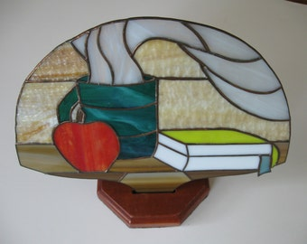 Stained Glass Night Light--Teacher Motif