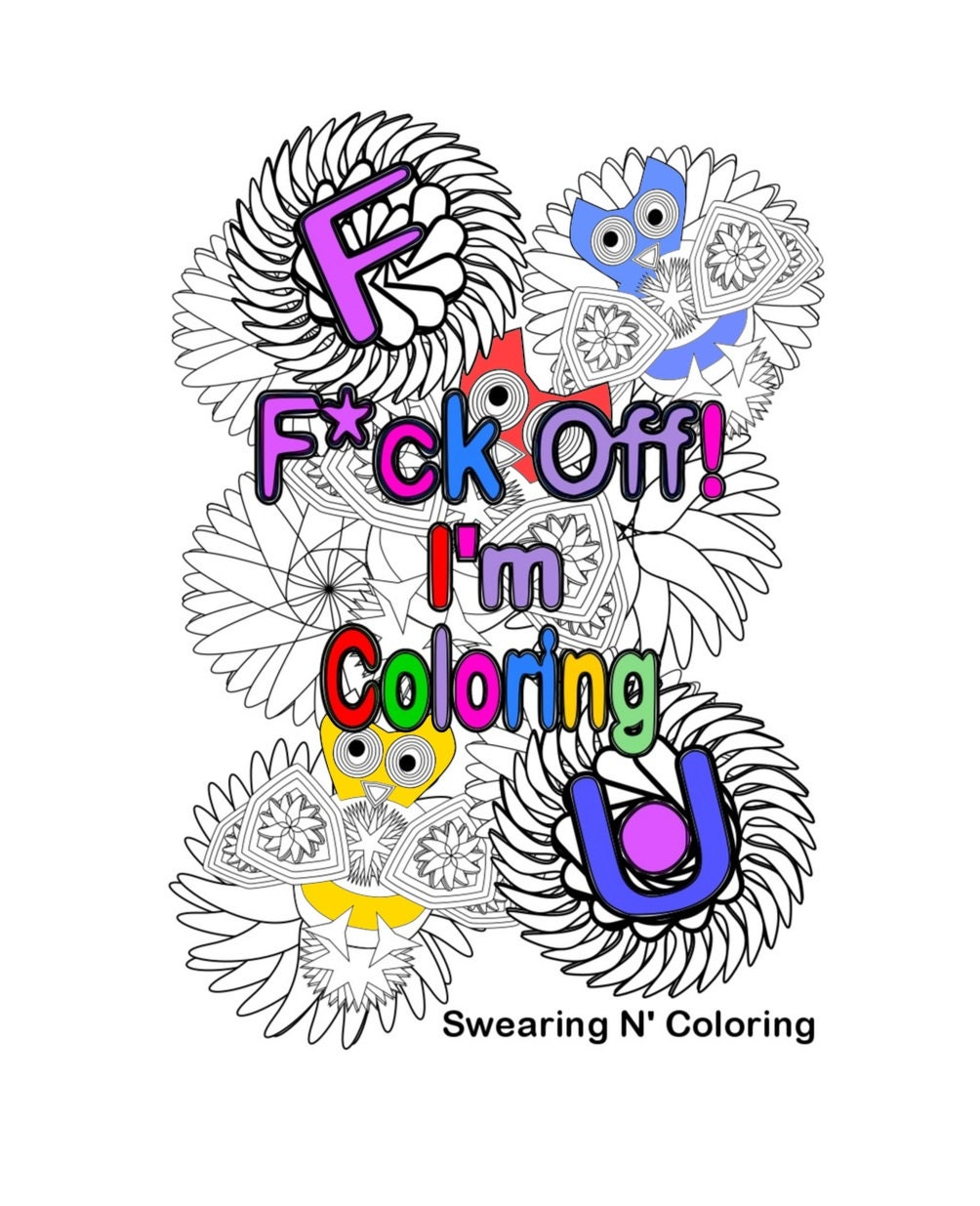 Swear word coloring book volume 1 -  Zoom