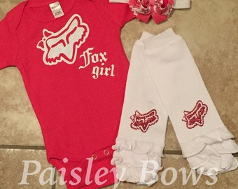 Pink and white baby girls outfit