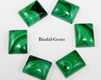 25 Pieces Lot Top Quality Malachite Octagon Gemstone Cabochon For Jewelry