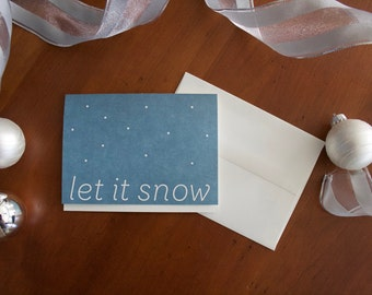 Let It Snow Holiday Card