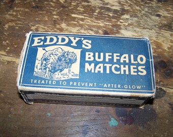 Advertising Vintage Paper Match Box EDDY'S  Buffalo Matches  CANADA