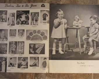 BEEHIVE Two to Six Years Patons Vintage 50's KNITTING Pattern Booklet 29 pages