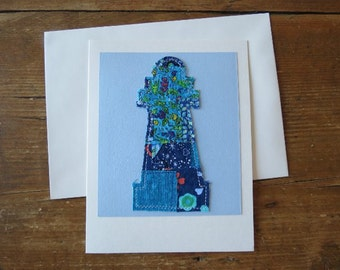 Quilted Lighthouse Card - Special Occation, Father's Day, Birthday