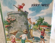 The Happy Hollisters at Lizard Cove by Jerry West Illustrated by Helen Hamilton Hardback Book Copyright 1957 Doubleday Publishers
