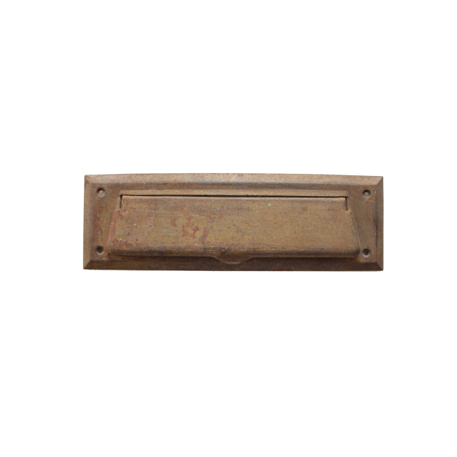 Vintage gold brass metal wall mounted hinged mailbox by pickedhome