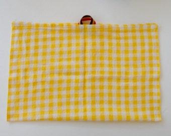 Yellow Gingham Dish Cloth