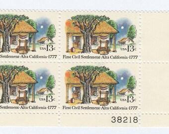 1977 Alta, California US Postage Stamps Unused Block of 4