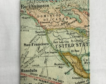World Map Passport Cover, Holder, Protector, Case