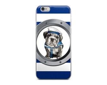English bulldog cell phone case, iPhone 5/5S/SE, iPhone6/ 6S, iPhone6 / 6S Plus, marine bulldog cel phone case, iphone case, animal case
