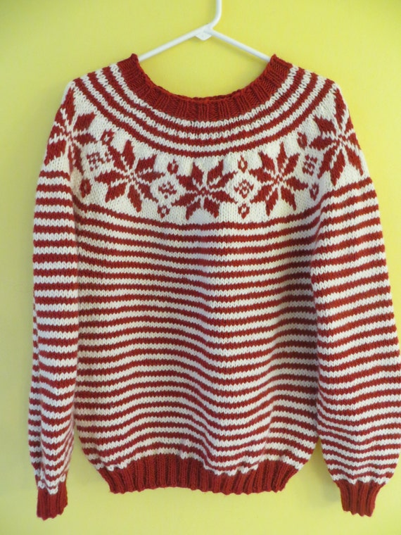 Snowflake Striped Sweater 55