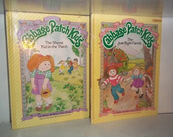 1984 HC Cabbage Patch Kids Books~ Just Right Family & Shyest Kid In The Patch