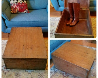 Collection Only Vintage Antique Solid Wood Storage Box