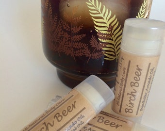 Birch Beer natural lip balm