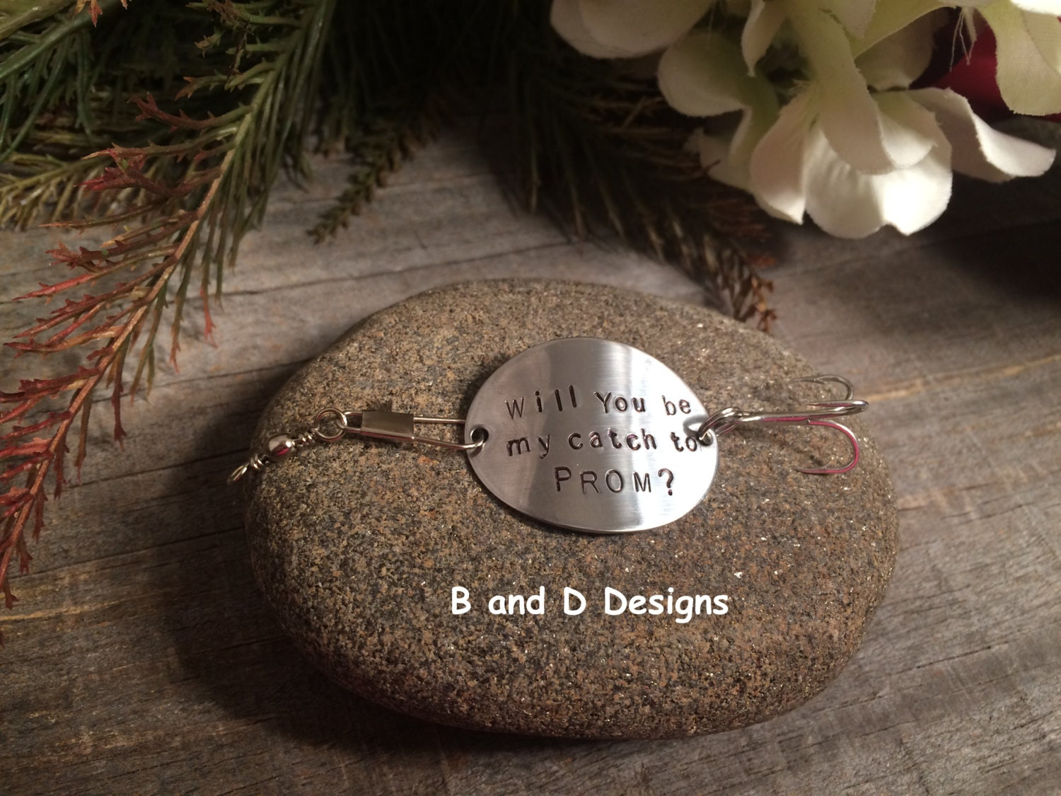 Will you marry me christmas ornament - Will You Marry Me Personalized Fishing Lure Zoom