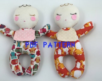 PDF PATTERN -Baby Doll PDF pattern, Baby Doll sewing pattern, Instant download pattern