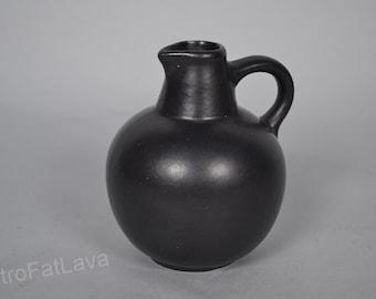 Small black West German vase by Ruscha vase 304