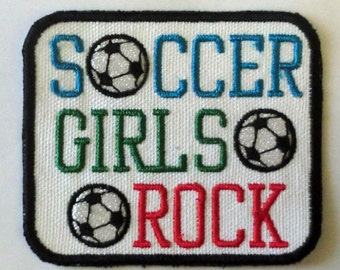 Iron-On Patch - SOCCER GIRLS ROCK