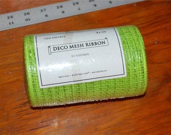 Green Deco Mesh Ribbon