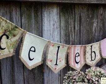Custom CELEBRATE bunting banner flag…party, holiday, celebration