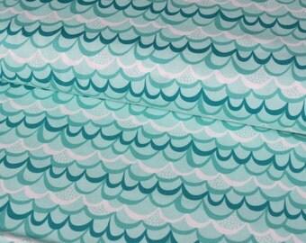 Moda Waves cotton woven fabric - UK seller
