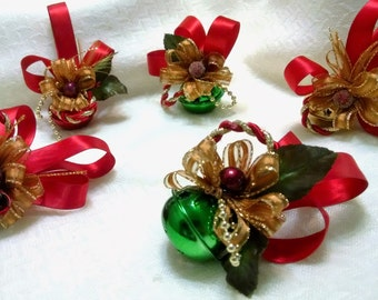 Set of 5 Christmas Bell Ornaments - Christmas Decoration -Tree Decoration - Christmas Tree Ornaments - Christmas Ornament -