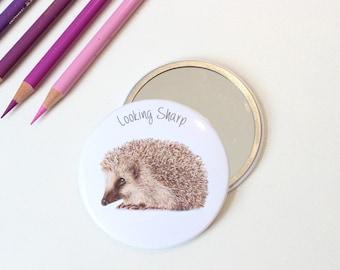 Looking Sharp Hedgehog Pocket Mirror