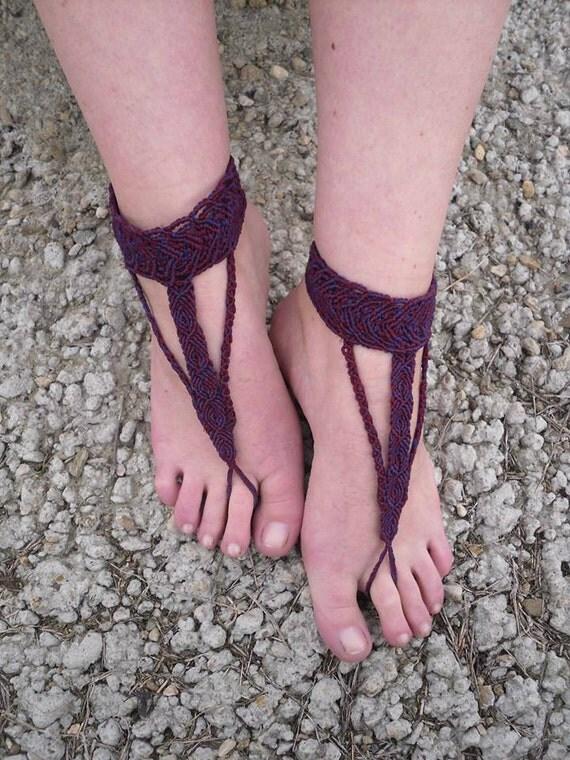 Free shipping Macrame barefoot