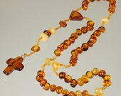 Beautiful Baroque Beads Baltic Amber Rosary id 115
