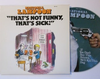 National Lampoon That's Not Funny That's Sick Comedy 1977 70's Picture Disc Vintage Vinyl Record LP
