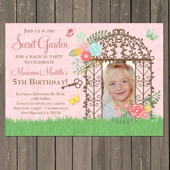 Garden Party Invitation Secret Birthday