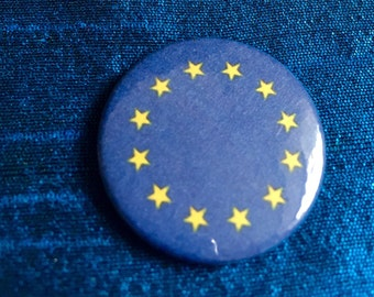 European Union EU Flag 25mm Badge