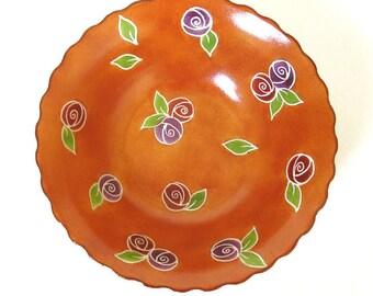 Ceramic bowl, Hand painted serving bowl, Ceramic serving bowl, Salad bowl
