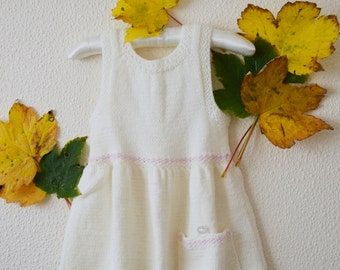 Hand Knitted White Dress