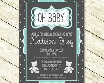 Baby Shower Invite For Boy Or Girl Baby Shower