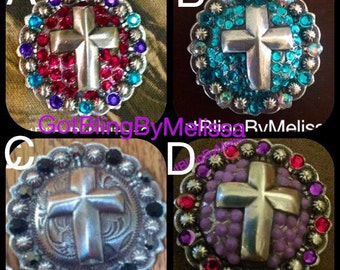 Bling Cross Concho - saddle or tack