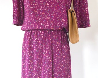 Purple Floral Skirt and Top Combo