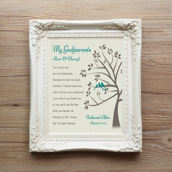 Godmother Wedding Gift: Godparents Gift From GodChild Godmother Gift Godfather Gift