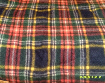 Vintage Wool Plaid Throw Blanket, Made in England, Wool Fringe Throw, Wool Stadium Blanket, Wool Plaid Throw, Wool Lap Blanket