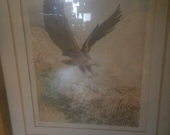Flying Eagle Signed Lithograph by Paul Geygan