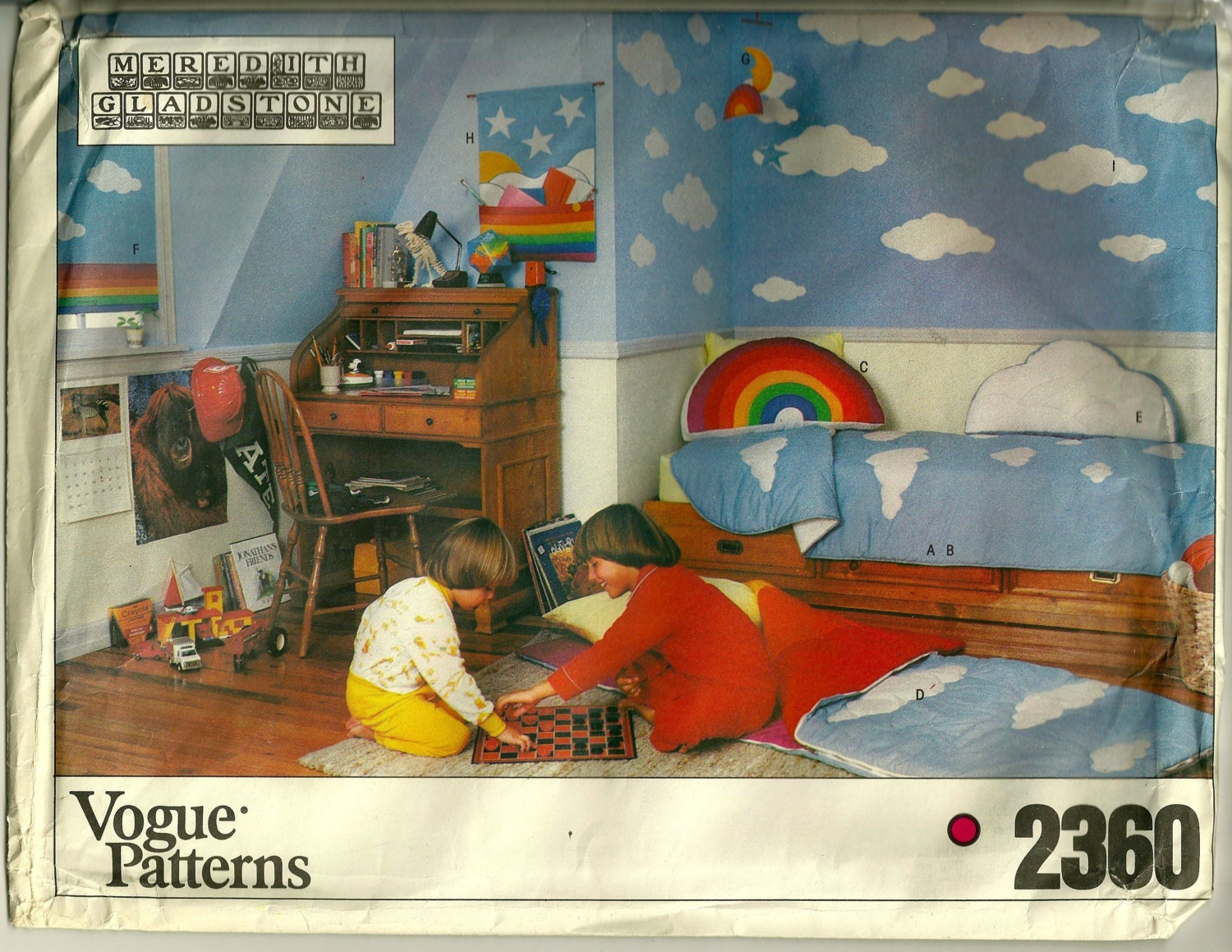 Early 1980s Meredith Gladstone children's decor pattern Vogue 2360