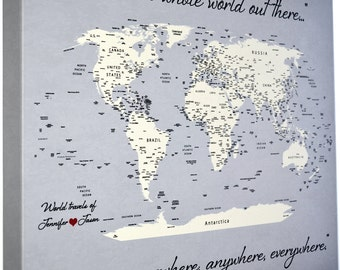 Etsy your place to buy and sell all things handmade push pin travel map personalized gifts for men world map push pin anniversary gumiabroncs Gallery