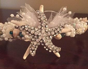 XO Bouquets hair crown headband mermaid hair band