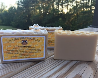 Honey Almond Cold Process Handmade Soap
