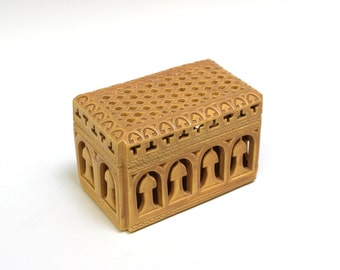 Golden Box with cut out design