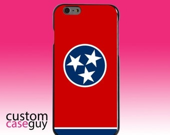 Hard Snap-On Case for Apple 5 5S SE 6 6S 7 Plus - CUSTOM Monogram - Any Colors - Tennessee State Flag
