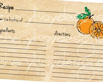 4X6 Recipe Card - Oranges