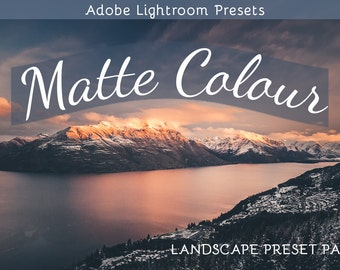 Matte Colour for Landscape: Adobe Lightroom Preset Pack